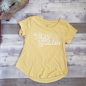 Fighting Eel Stay Golden Tee, Small, Gold